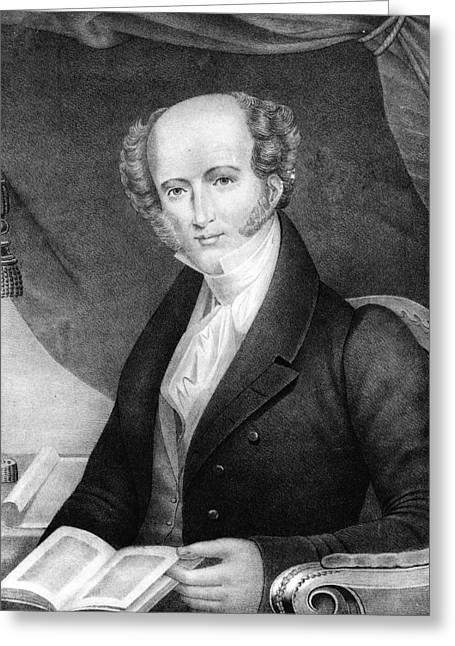 American Politician Greeting Cards - Martin Van Buren - Eighth President of the United States of America Greeting Card by International  Images