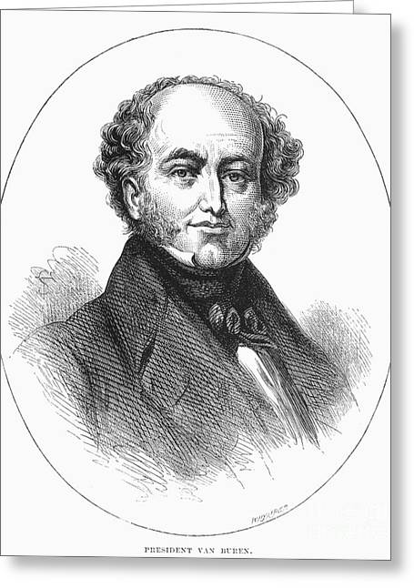 Sideburns Greeting Cards - Martin Van Buren Greeting Card by Granger