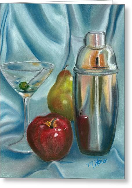 Shiny Pastels Greeting Cards - Martini Anyone Greeting Card by Marcia  Hero