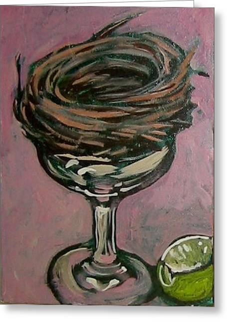 Toast Paintings Greeting Cards - Martini Nest Greeting Card by Tilly Strauss