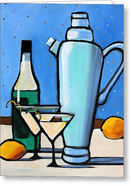 Cocktail Greeting Cards - Martini Night Greeting Card by Toni Grote