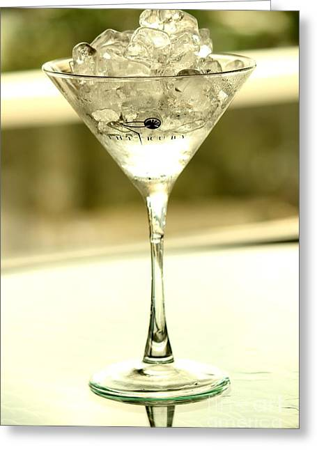 Absolut Greeting Cards - Martini XIII Greeting Card by Rene Triay Photography