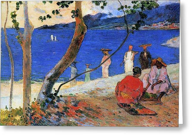 Post-impressionism Greeting Cards - Martinique Island Greeting Card by Paul Gauguin