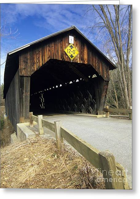 Covered Bridge Greeting Cards - Martinsville Covered Bridge- Hartland Vermont USA Greeting Card by Erin Paul Donovan