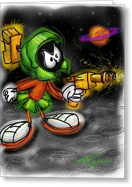 Bugs Bunny Greeting Cards - Marvin the Martian Greeting Card by Russell Pierce