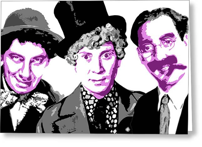 Groucho Marx Digital Art Greeting Cards - Marx Brothers Greeting Card by DB Artist