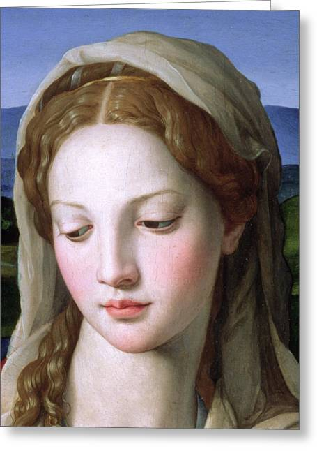 Up Close Greeting Cards - Mary Greeting Card by Agnolo Bronzino