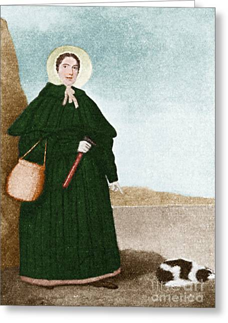 Fossil Art Greeting Cards - Mary Anning, English Paleontologist Greeting Card by Science Source