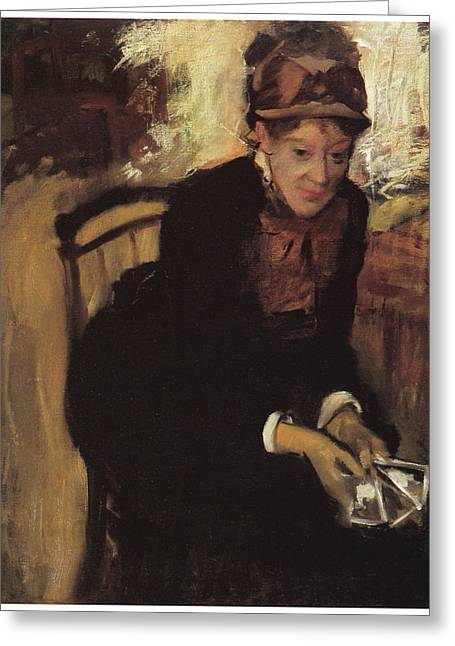 Cassatt Greeting Cards - Mary Cassatt Greeting Card by Edgar Degas