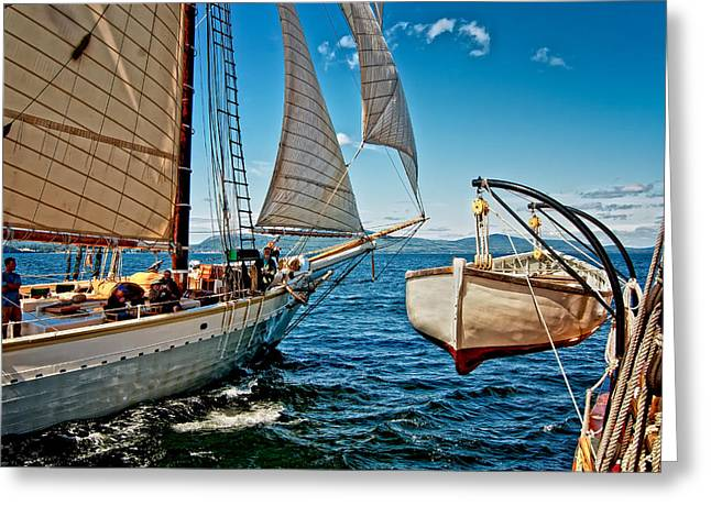 Schooner Greeting Cards - Mary Day Greeting Card by Fred LeBlanc
