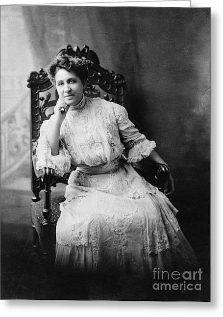 1880s Greeting Cards - Mary Eliza Church Terrell Greeting Card by Granger