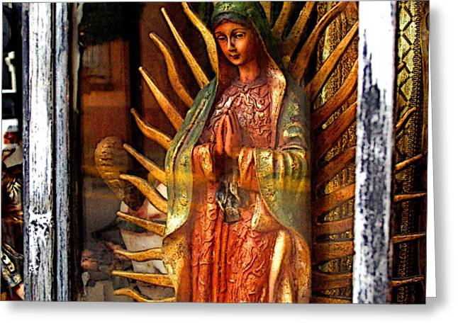 Mary in the Sun Greeting Card by Olden Mexico