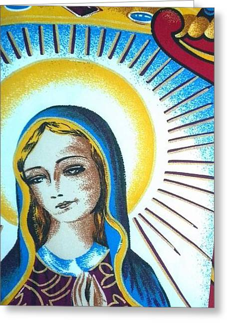 Mary Greeting Card by Julie Butterworth