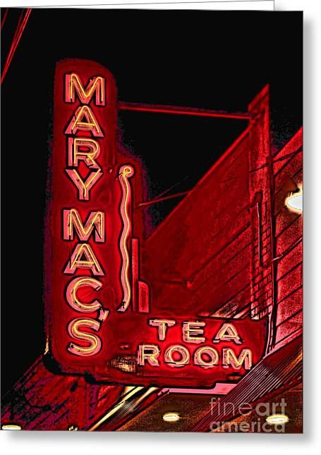 Photographers Conyers Greeting Cards - Mary Macs Resturant Atlanta Greeting Card by Corky Willis Atlanta Photography