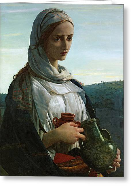 St Mary Magdalene Paintings Greeting Cards - Mary Madgalen Greeting Card by JR Herbert