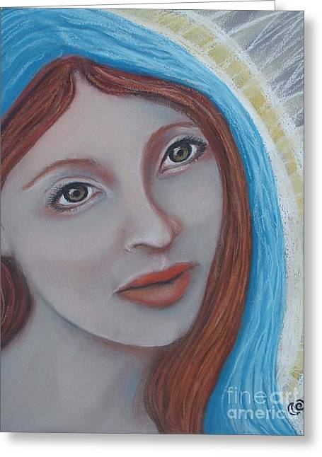 Biblical Pastels Greeting Cards - Mary Magdalene Greeting Card by Tammy Mae Moon