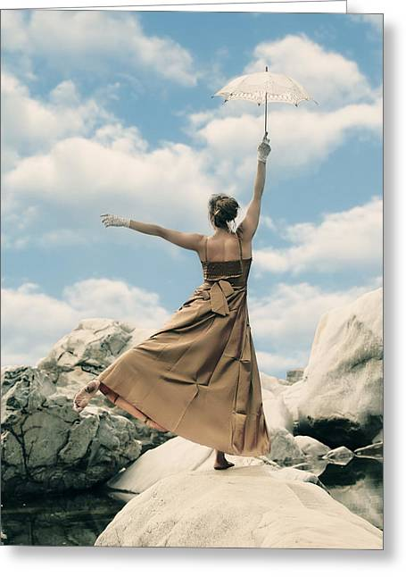 Dream Like Greeting Cards - Mary Poppins Greeting Card by Joana Kruse