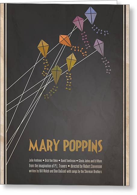 Julie Greeting Cards - Mary Poppins Greeting Card by Megan Romo