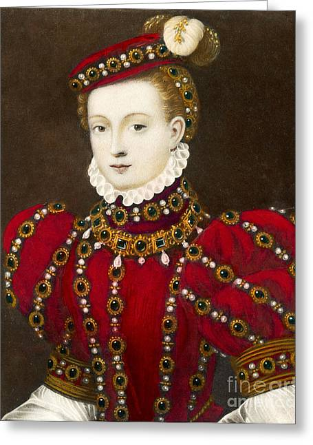 British Royalty Greeting Cards - Mary Queen of Scots Greeting Card by Mary Evans Picture Library and Photo Researchers