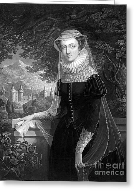 King James Greeting Cards - Mary Queen Of Scots Greeting Card by Photo Researchers
