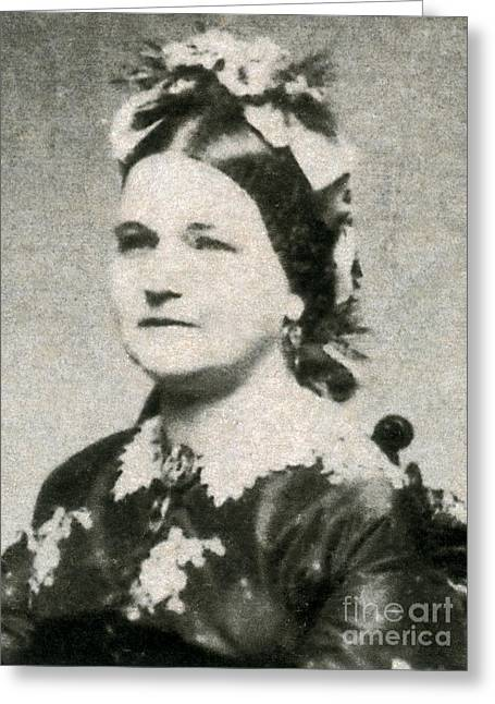 Mary Todd Lincoln Greeting Cards - Mary Todd Lincoln, First Lady Greeting Card by Photo Researchers
