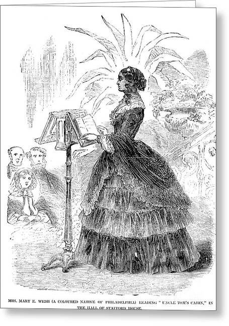 Uncle Tom Greeting Cards - MARY WEBB (Fl.1850-60) Greeting Card by Granger