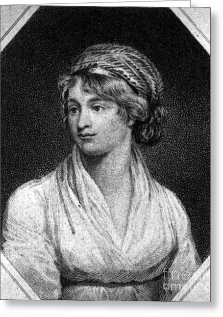 Milestone Greeting Cards - Mary Wollstonecraft Greeting Card by Photo Researchers