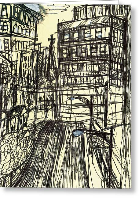 Sketchbook Greeting Cards - Maryland Avenue Greeting Card by Nancy Mitchell