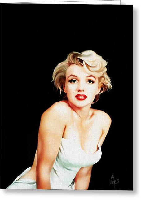 Pinup Pastels Greeting Cards - Marylin Monroe Greeting Card by Roly Orihuela