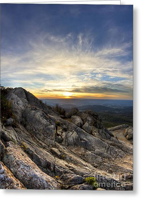 Shenandoah National Park Greeting Cards - Marys Rock Shenandoah National Park Greeting Card by Dustin K Ryan