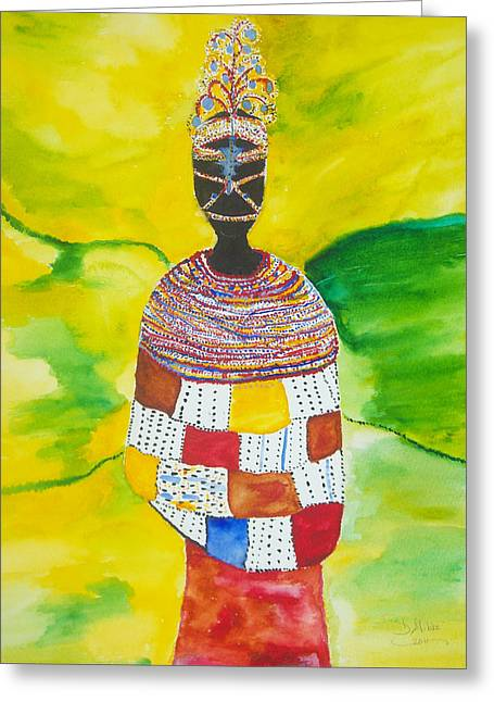 Hallmark Greeting Cards - Masai Bride Greeting Card by Dimples Gibbs