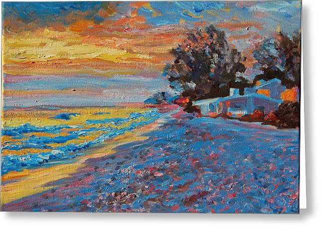 Masasota Key Sunset Greeting Card by Thomas Bertram POOLE