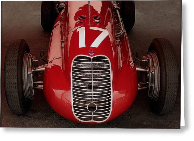Indy Car Greeting Cards - Maserati 4 CL 1939 Frontal Greeting Card by Curt Johnson