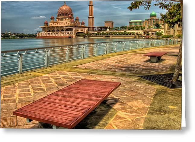 Masjid Putra Greeting Card by Adrian Evans