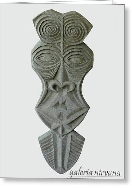 Costa Mixed Media Greeting Cards - Mask 1 2006 Greeting Card by Eduardo Leiva