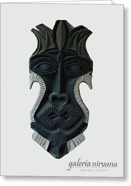 Costa Mixed Media Greeting Cards - Mask 2 2006 Greeting Card by Eduardo Leiva