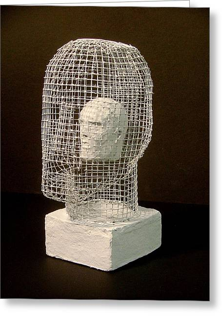 Stood Sculptures Greeting Cards - Mask Greeting Card by Gary Kaemmer