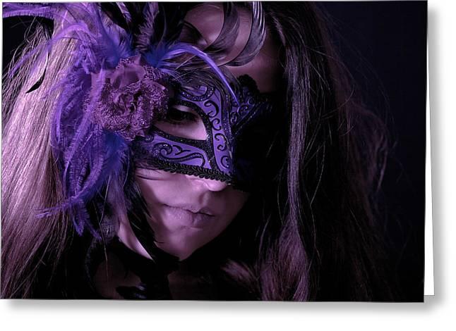 Mask Greeting Card by Joana Kruse