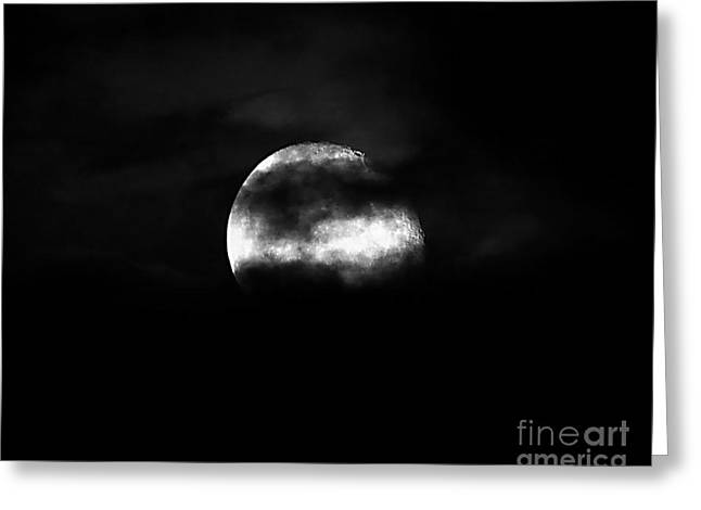 Luna Greeting Cards - Masked Moon Greeting Card by Al Powell Photography USA