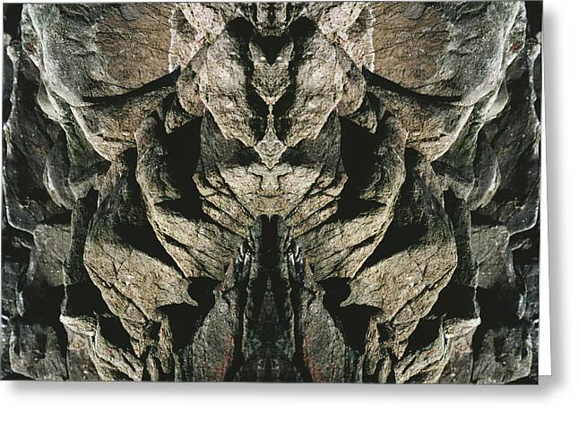 Masked Rock God Of Ogunquit  Greeting Card by Nancy Griswold