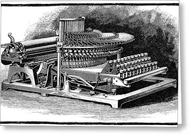 Maskelyne Typewriter, 19th Century Greeting Card by