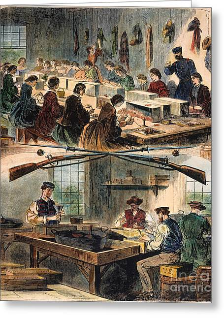 Mass.: U.s. Arsenal, 1861 Greeting Card by Granger