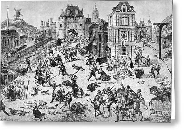 Du Bois Greeting Cards - Massacre Of Huguenots Greeting Card by Granger