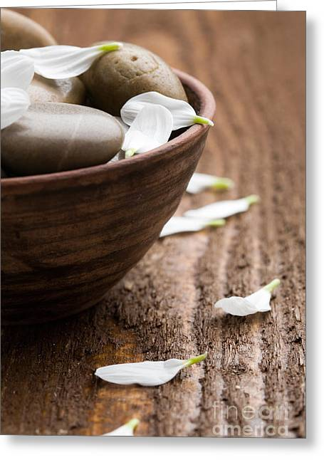 Stone Bowl Greeting Cards - Massage stones  Greeting Card by Kati Molin