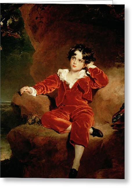 Best Sellers -  - Youthful Greeting Cards - Master Charles William Lambton Greeting Card by Sir Thomas Lawrence