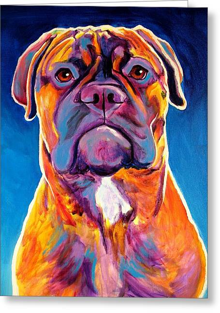 Bred Greeting Cards - Bullmastiff - Lexi Greeting Card by Alicia VanNoy Call