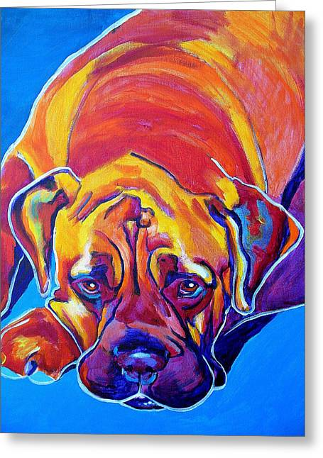 Bullmastiff - Sahara Greeting Card by Alicia VanNoy Call