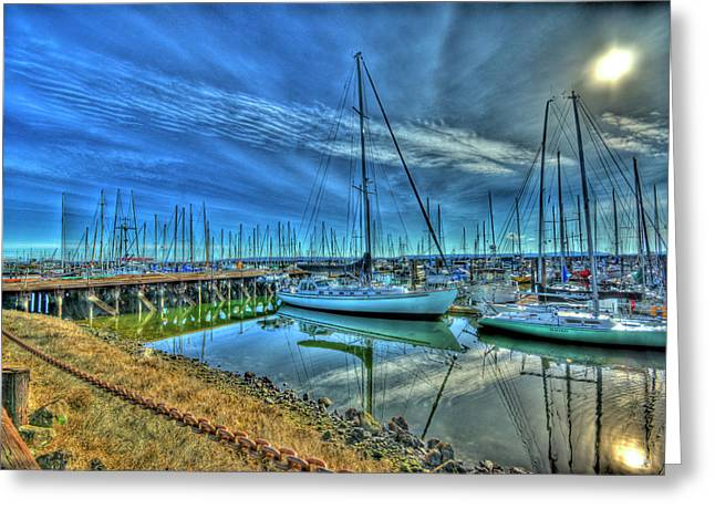 Photoshop Cs5 Greeting Cards - Masts without Sails Greeting Card by Dale Stillman