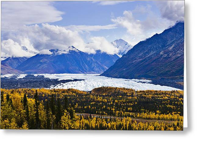 Concern Greeting Cards - Matanuska Glacier Along Glenn Highway Greeting Card by Yves Marcoux