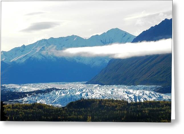 Matsu Greeting Cards - Matanuska Glacier Greeting Card by Katie Ellis
